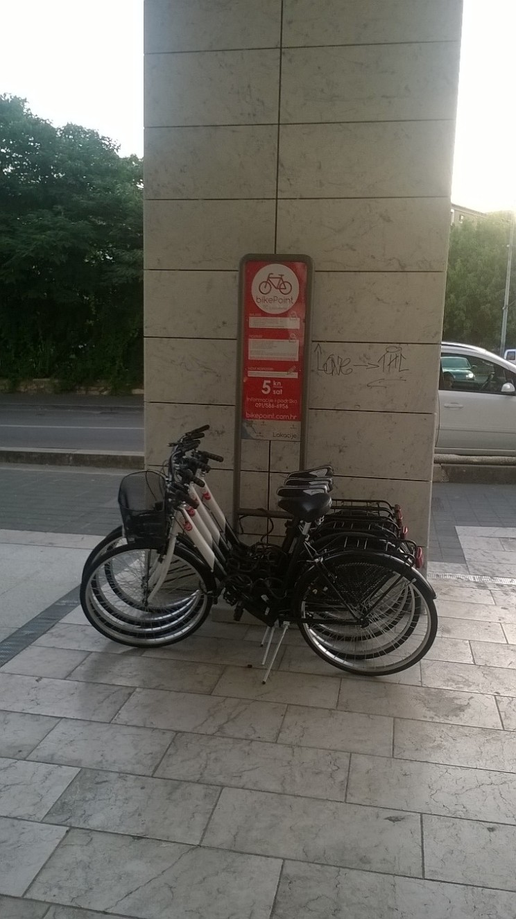 Bike share in Zadar, Croatia (commercial)